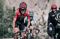 Tiesj Benoot (BEL/Lotto-Soudal) up the Col d'Izoard (HC/2360m/14.1km/7.3%)<br /> <br /> 104th Tour de France 2017<br /> Stage 18 - Briancon › Izoard (178km)