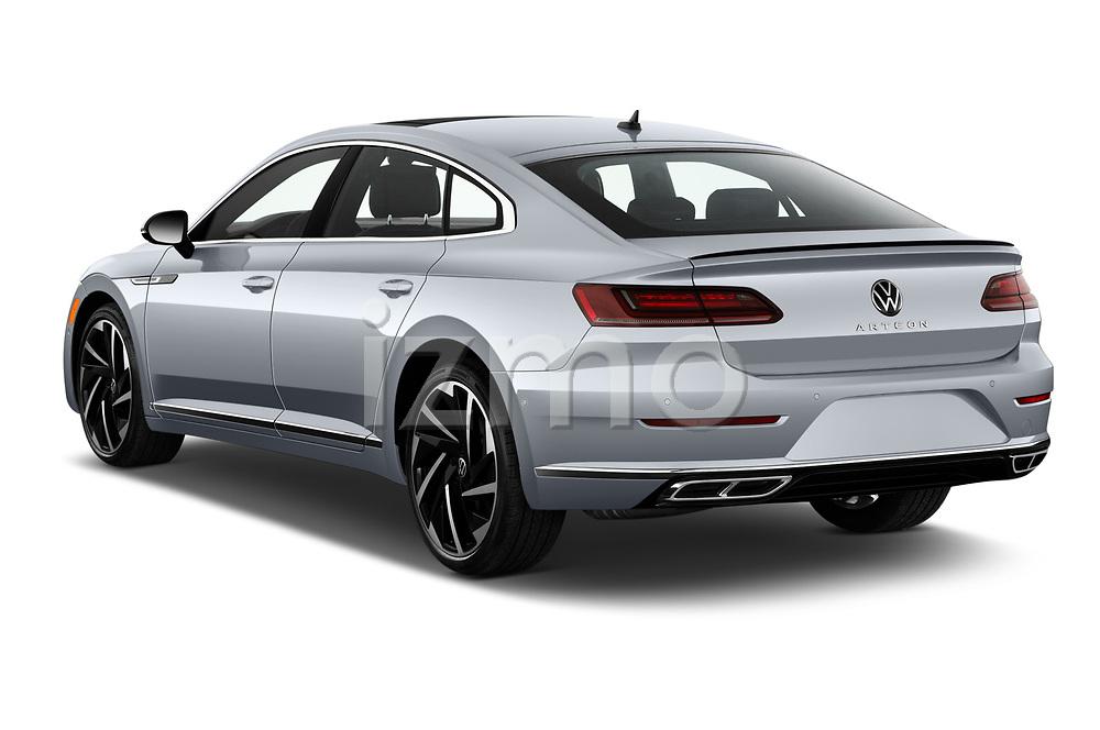 Car pictures of rear three quarter view of 2021 Volkswagen Arteon SEL-Premium-R-Line 5 Door Hatchback Angular Rear