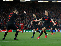 Marcos Llorent of Atletico Madrid celebrates scoring a second goal in extra time during the UEFA Champions League match at Anfield, Liverpool. Picture date: 11th March 2020. Picture credit should read: Darren Staples/Sportimage PUBLICATIONxNOTxINxUK SPI-0539-0089<br /> Liverpool 11/03/2020 Anfield <br /> Football Uefa Champions League 2019/2020 <br /> Round of 16 second leg <br /> Liverpool - Atletico Madrid <br /> Photo Imago/Insidefoto <br /> ITALY ONLY