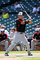 August 18 2008:  Stephen Perez (11) of the Baseball Factory team during the 2008 Under Armour All-American Game at Wrigley Field in Chicago, IL.  Photo by:  Mike Janes/Four Seam Images