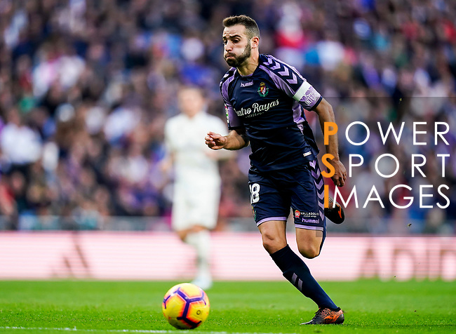 Antonio Jesus Regal Anguilo of Real Valladolid in action during the La Liga 2018-19 match between Real Madrid and Real Valladolid at Estadio Santiago Bernabeu on November 03 2018 in Madrid, Spain. Photo by Diego Souto / Power Sport Images