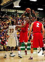 21 January 2010: Stony Brook University Seawolves' forward Dallis Joyner, a Sophomore from Norfolk, VA, in action against the University of Vermont Catamounts at Patrick Gymnasium in Burlington, Vermont. The Catamounts fell to the Seawolves 65-60 in the America East matchup. Mandatory Credit: Ed Wolfstein Photo