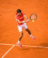 Paris, France, 27 May, 2019, Tennis, French Open, Roland Garros, Novak Djokovic (SER)<br /> Photo: Henk Koster/tennisimages.com
