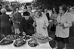The Wicken Love Feast, takes place on Ascension Day and celebrates the joining together of two parishes in 1587. Wicken Northamptonshire 1970s Uk.  Open air service under the Gospel Oak. (Not sure here it may be an Elm)