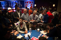 New York, NY - Friday, May 30,  2014:  USMNT participates in Media Day at the Marriott Marquis in Times Square.
