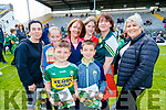 Aine Hickey, Rachel Kissane, Shane Hickey, Caitriona Kissane, Jack Kissane, Ellen Breen, Margaret Breen and Claire Morley, all from Gneeveguilla, pictured at the Kerry Team Open Day Meet and Greet, at Fitzgerald Stadium, Killarney on Saturday last.
