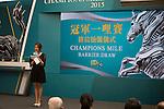 APR 30,2015: Champions Mile Barrier Draw at Sha Tin in New Territories,Hong Kong. Kazushi Ishida/ESW/CSM