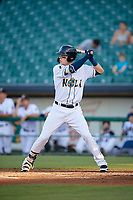 New Orleans Baby Cakes Matt Snyder (33) at bat during a Pacific Coast League game against the Oklahoma City Dodgers on May 6, 2019 at Shrine on Airline in New Orleans, Louisiana.  New Orleans defeated Oklahoma City 4-0.  (Mike Janes/Four Seam Images)