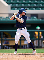 Wharton Wildcats infielder Zach Ehrhard (14) bats during the 42nd Annual FACA All-Star Baseball Classic on June 5, 2021 at Joker Marchant Stadium in Lakeland, Florida.  (Mike Janes/Four Seam Images)