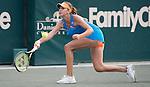 Belinda Bencic (SUI) loses in third set tie-breaker to Jana Cepelova (SVK) at the Family Circle Cup in Charleston, South Carolina on April 5, 2014.