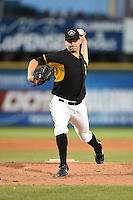 Bradenton Marauders pitcher Josh Smith (16) delivers a pitch during a game against the Jupiter Hammerheads on April 19, 2014 at McKechnie Field in Bradenton, Florida.  Bradenton defeated Jupiter 4-0.  (Mike Janes/Four Seam Images)