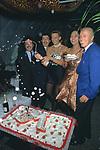 CARLO SAGGI CON SALVO ESPOSITO, MAFALDA D'AOSTA,  JOSEPHA SUAREZ E RENATO BALESTRA<br /> COMPLEANNO MAFALDA D'AOSTA      ALIEN CLUB  ROMA 1993