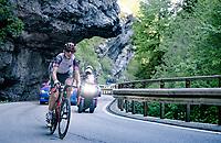 Davide Formolo (ITA/UAE-Emirates) up the Passo di San Valentino (cat.1)<br /> <br /> 104th Giro d'Italia 2021 (2.UWT)<br /> Stage 17 from Canazei to Sega di Ala (193km)<br /> <br /> ©kramon