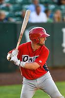 Michael Barash (45) of the Orem Owlz at bat against the Ogden Raptors in Pioneer League action at Lindquist Field on June 27, 2016 in Ogden, Utah. Orem defeated Ogden 4-3. (Stephen Smith/Four Seam Images)