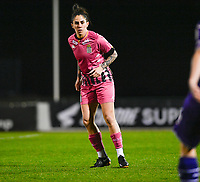 Ylenia Carabott (7) of Sporting Charleroi pictured during a female soccer game between RSC Anderlecht Dames and Sporting Charleroi on the 13 th matchday of the 2020 - 2021 season of Belgian Womens Super League , friday 5 th of February 2021  in Tubize , Belgium . PHOTO SPORTPIX.BE | SPP | DAVID CATRY