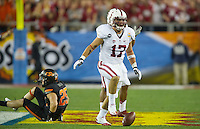 GLENDALE, AZ - January 2, 2012 - Stanford Cardinal football plays Oklahoma State in the Fiesta Bowl at University of Phoenix Stadium in Glendale, Arizona.