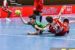 06Justus Richtzenhain, n94Georg Poehle beim Spiel in der Handball Bundesliga, TSV GWD Minden - HSG Nordhorn-Lingen.<br /> <br /> Foto © PIX-Sportfotos *** Foto ist honorarpflichtig! *** Auf Anfrage in hoeherer Qualitaet/Aufloesung. Belegexemplar erbeten. Veroeffentlichung ausschliesslich fuer journalistisch-publizistische Zwecke. For editorial use only.