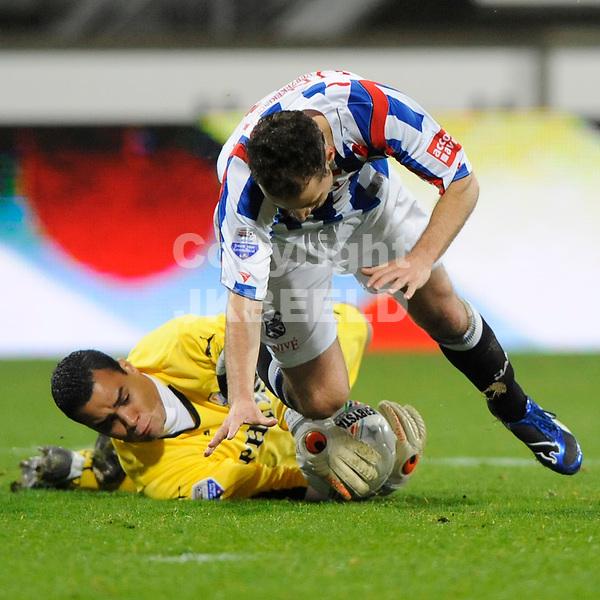 voetbal sc heerenveen - fc utrecht erediivisie seizoen 2008-2009 15-11-2008  michel vorm met roy beerens.fotograaf jan kanning.