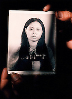 A photograph of a prisoner at the S-21 Khmer Rouge detention centre at Tuol Sleng, where over 16,000 inmates were killed between 1975 and 1979. The Khmer photographed every prisoner before they were killed.