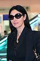 Italian actress Monica Bellucci arrives in Tokyo