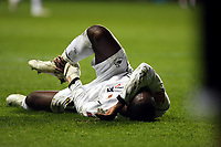 ATTENTION SPORTS PICTURE DESK<br /> Pictured: Nathan Dyer of Swansea on the ground after a Plymouth foul<br /> Re: Coca Cola Championship, Swansea City FC v Plymouth Argyle at the Liberty Stadium, Swansea, south Wales. 10 March 2009.<br /> Picture by D Legakis Photography / Athena Picture Agency, Swansea 07815441513