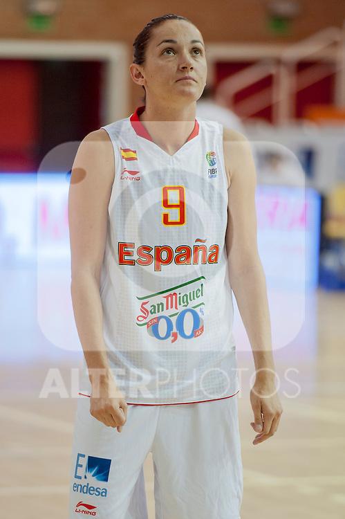 Spain team´s Laila Palau during Euro Basket Women Spain vs Sweden