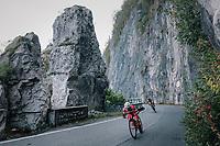 breakaway group descending<br /> <br /> 112th Il Lombardia 2018 (ITA)<br /> from Bergamo to Como: 241km