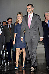 Prince Felipe of Spain and Princess Letizia of Spain attend the 'El Canon del Boom' literary congress at the Casa de America on November 5, 2012 in Madrid, Spain. .(ALTERPHOTOS/Harry S. Stamper)
