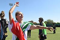 Lisa Boattin celebrates at the end of the match <br /> Verona 20-4-2019 Stadio AGSM Olivieri <br /> Football Women Serie A Hellas Verona - Juventus <br /> Juventus win italian championship <br /> Photo Daniele Buffa / Image Sport / Insidefoto