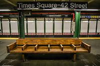 NOVA YORK, EUA, 25.03.2020 - CORONAVIRUS-EUA - Metro da Times Square em Manhattan são vistas vazias durante a pandemia do Coronavirus COVID19 em Nova York nos Estados Unidos . (Foto: Vanessa Carvalho/Brazil Photo Press)