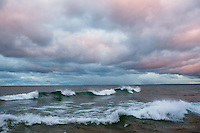 pink fringed clouds and little peelers, Upper Harbor, Mqt