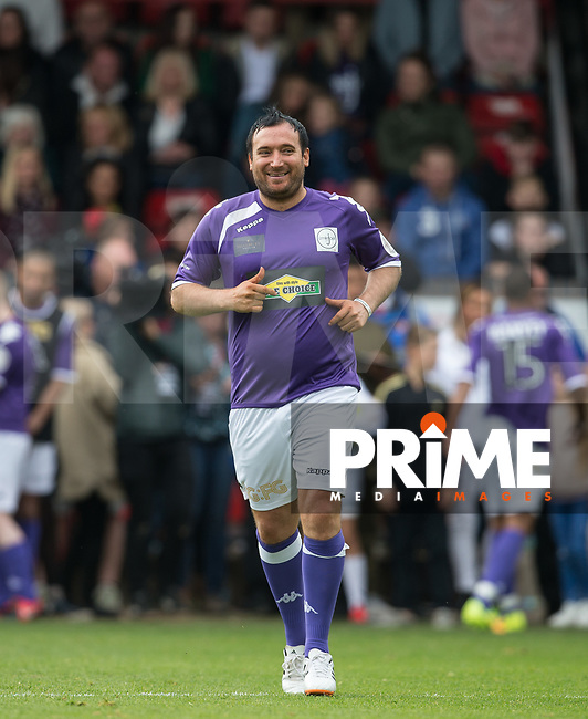 Kevin Cooper (Ex AFC Wimbledon Player) during the Sellebrity Soccer - Celebrity football match in aid of the 'Smile for Joel' and Compton Hospice charities at Bescot / Banks's Stadium, Walsall, United Kingdom on 13 May 2017. Photo by Andy Rowland.