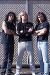 SLAYER Slayer, Jeff Hanneman, Kerry King, Tom Araya, Photo By David Plastik/IconicPix 1988 Los Angeles