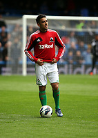 Pictured: Neil Taylor returns from injury with a place on the bench<br /> Barclays Premier League, Chelsea FC (blue) V Swansea City,<br /> 28/04/13