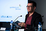 "Spanish writter Angel Sala during the projection of the short film ""Milagros y Remedios"", the second part of the group film ""En tu Cabeza"" at the Festival de Cine Fantastico de Sitges in Barcelona. October 07, Spain. 2016. (ALTERPHOTOS/BorjaB.Hojas)"