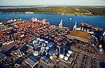 Tallyrand Terminal JaxPort St. Johns River helicopter aerial