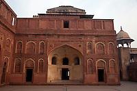 Agra, India.  Agra Fort, Jahangiri Mahal.  Islamic Arches.