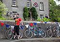 2106/15<br /> <br /> A rider stops for a drink in Hartington.<br /> <br /> Three Thousand cyclists riding vintage machines, all older than 1987, take to the hills of the Peak District in Derbyshire, as part of the Eroica Britannia Festival held in Bakewell this weekend.<br /> <br /> All Rights Reserved: F Stop Press Ltd. +44(0)1335 418629   www.fstoppress.com.