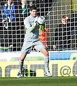 CELTIC'S FRASER FORSTER COLLECTS THE BALL