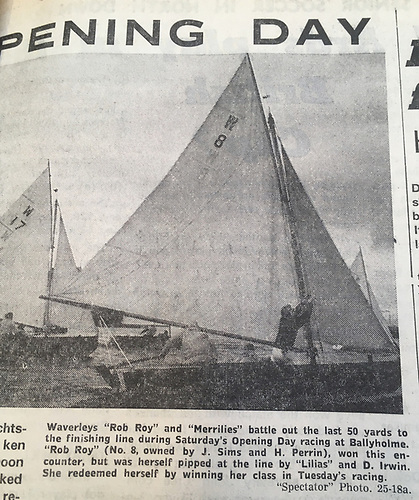 The Waverley Opening Day at Ballyholme makes headlines in the local newspaper