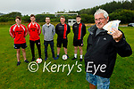 Members of Ferry Rangers FC in Tarbert celebrating a 10,000 euro windfall from Paddy Power at the club on Tuesday. Front right: John McGinley (Chairman). Back l to r: Eamon O'Callaghan, Cillian Langan, John O'Dowd, Patrick Griffin and Paddy O'Callaghan.