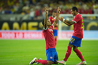 Action photo during the match Colombia vs Costa Rica, Corresponding to  Group -A- of the America Cup Centenary 2016 at NRG Stadium.<br /> <br /> Foto de accion durante el partido Colombia vs Costa Rica, Correspondiente al Grupo -A- de la Copa America Centenario 2016 en el Estadio NRG , en la foto: (i-d) Johan Venegas celebra su gol con Ronald Matarrita de Costa Rica<br /> <br /> <br /> 11/06/2016/MEXSPORT/Jorge Martinez.