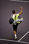 BANGKOK, THAILAND - OCTOBER 02:  Rafael Nadal of Spain acknowledges after loosing against compatriot Guillermo Garcia-Lopez during the Day 8 of the PTT Thailand Open at Impact Arena on October 2, 2010 in Bangkok, Thailand. Photo by Victor Fraile / The Power of Sport Images