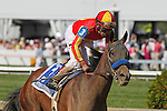 May 17, 2013, Fiftyshadesofhay (#3), Joel Rosario up, wins the Black-Eyed Susan Stakes at Pimlico Race Course in Baltimore, MD. Trainer is Bob Baffert. (Joan Fairman Kanes/Eclipse Sportswire)