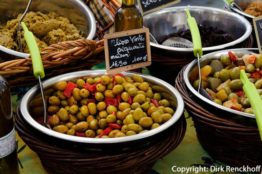 Markt auf der Place du Marché in Bastia, Korsika, Frankreich