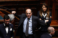 Il deputato Pierluigi Bersani durante la seduta comune di deputati e senatori per l'elezione del nuovo Presidente della Repubblica, alla Camera dei Deputati, Roma, 29 gennaio 2015.<br /> Italian deputy Pierluigi Bersani attends a joint plenary session of senators and deputies to vote for the election of the new President, at the Lower Chamber, Rome, 29 January 2015.<br /> UPDATE IMAGES PRESS/Riccardo De Luca