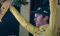Geraint Thomas (GBR/SKY) wins the opening iTT & the yellow jersey<br /> <br /> 104th Tour de France 2017<br /> Stage 1 (ITT) - Düsseldorf › Düsseldorf (14km)