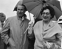 Mrs. Judy La March, Canadian Minister of Social Affairs pays working visit to the Netherlands<br /> Date August 20, 1963<br /> <br /> Photographer Bilsen, Joop from / Anefo