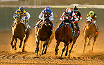 AUGUST 06, 2021: Elm Drive with Juan Hernandez  (inside) defeats Eda and Abel Cedillo to win the Sorrento Stakes at Del Mar Fairgrounds in Del Mar, California on August 06, 2021. Evers/Eclipse Sportswire/CSM