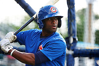 Chattanooga Lookouts catcher Carlos Paulino (46) during practice before a game against the Jacksonville Suns on April 30, 2015 at AT&T Field in Chattanooga, Tennessee.  Jacksonville defeated Chattanooga 6-4.  (Mike Janes/Four Seam Images)